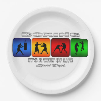 Cool Boxing It Is A Way Of Life Paper Plate