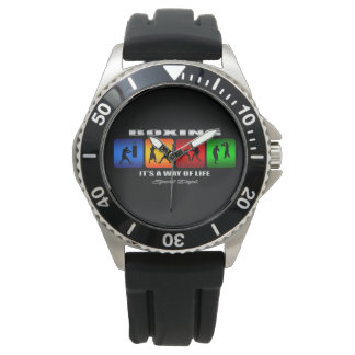Cool Boxing It Is A Way Of Life Wristwatch