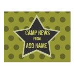 Cool Boy Customisable Camp Postcard