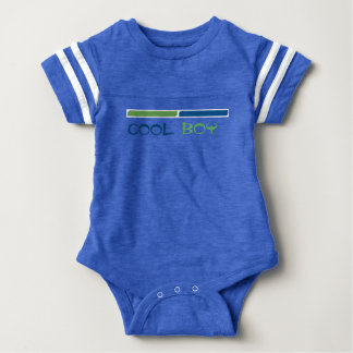 COOL BOY green and blue bars Baby Bodysuit