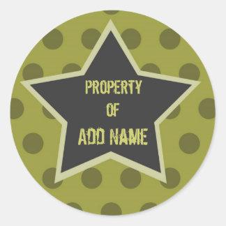 "Cool Boy ""Property of"" Camp Sticker"