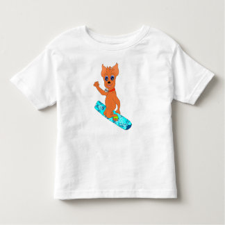 Cool Boy's Clothes - Happy Snowboarding Toddler T-Shirt