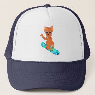 Cool Boy's Clothes - Happy Snowboarding Trucker Hat