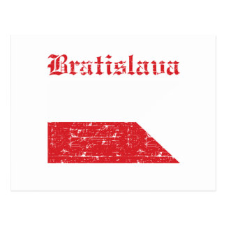 Cool bratislava city flag designs postcard