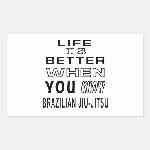Cool Brazilian Jiu-Jitsu Designs Rectangular Sticker