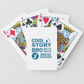 Cool break dancing designs bicycle playing cards