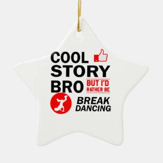 Cool break dancing designs ceramic star decoration
