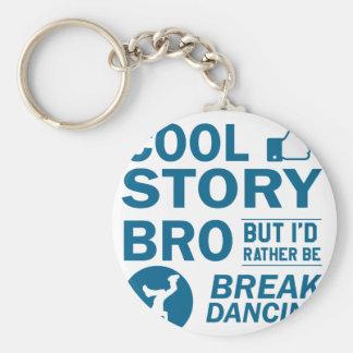 Cool break dancing designs key ring