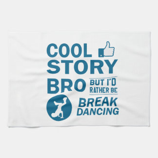 Cool break dancing designs kitchen towel