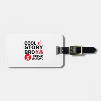 Cool break dancing designs luggage tag