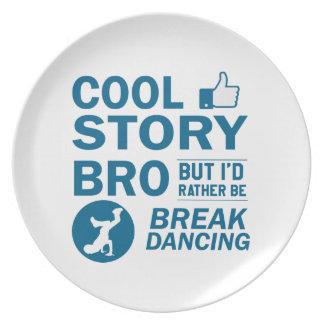 Cool break dancing designs party plates