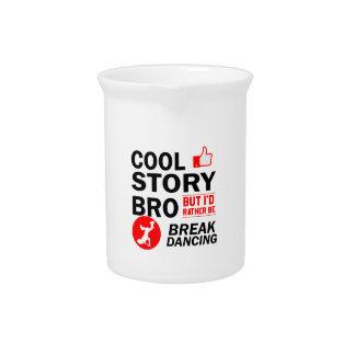 Cool break dancing designs pitcher