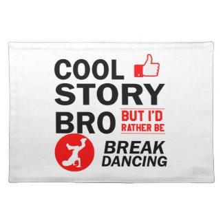 Cool break dancing designs placemat