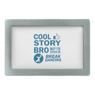 Cool break dancing designs rectangular belt buckle