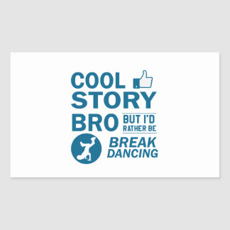 Cool break dancing designs rectangular sticker