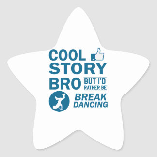 Cool break dancing designs star sticker