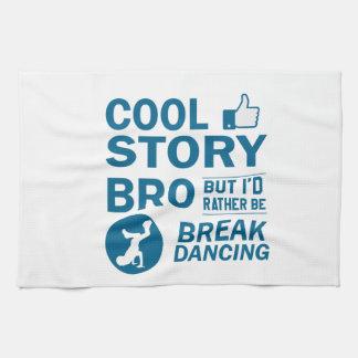 Cool break dancing designs tea towel