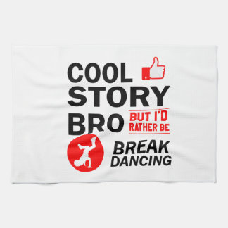 Cool break dancing designs tea towel