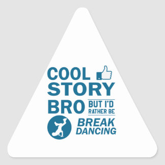 Cool break dancing designs triangle sticker
