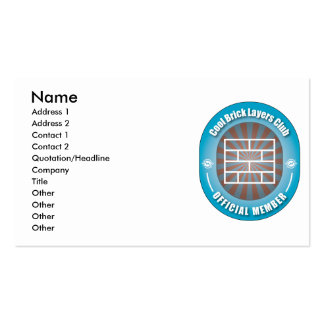 Cool Brick Layers Club Pack Of Standard Business Cards