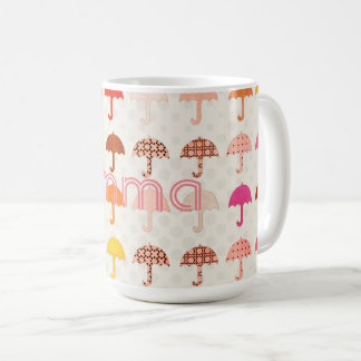 Cool Bright Add Name Umbrella Pattern Mug