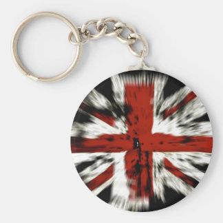 cool British flag Basic Round Button Key Ring
