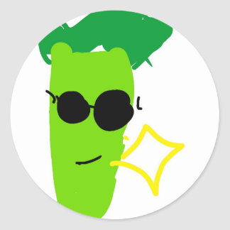 Cool Broccoli Classic Round Sticker