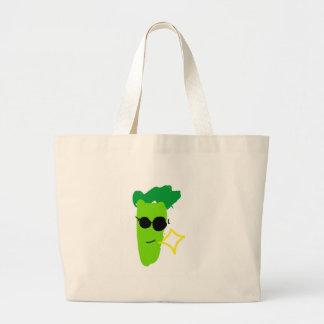 Cool Broccoli Large Tote Bag
