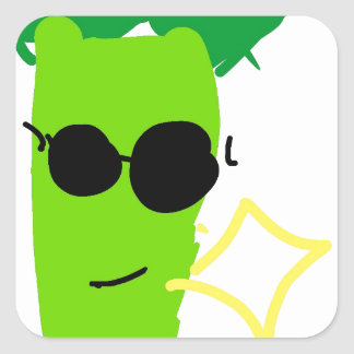 Cool Broccoli Square Sticker