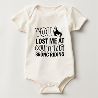 Cool bronc ride designs baby bodysuit