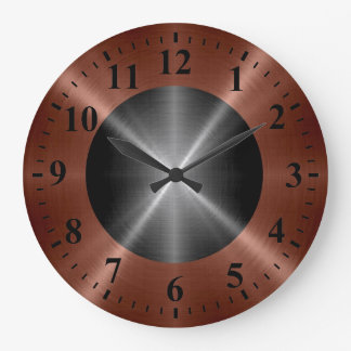 Cool Bronze Silver Stainless Steel Metal Wallclock