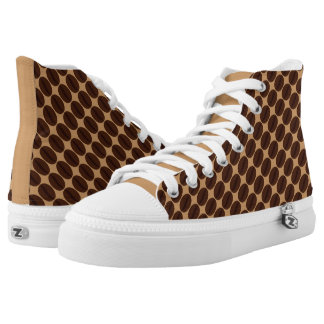 Cool Brown Coffee beans pattern Printed Shoes