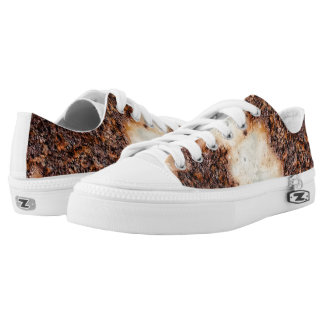Cool brown rusty metal texture printed shoes