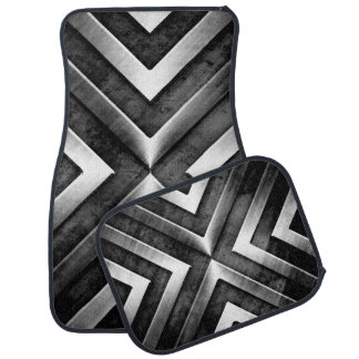 Cool Brushed Heavy Dark Metal Steel Look Floor Mat