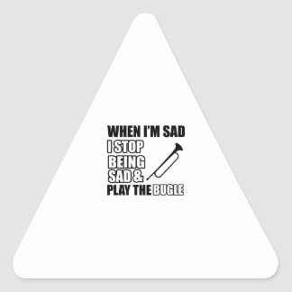 Cool Bugle Lovers Designs Triangle Stickers