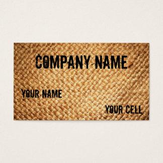 Cool Burlap Business cards