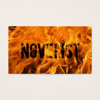 Cool Burning Fire Novelist Business Card