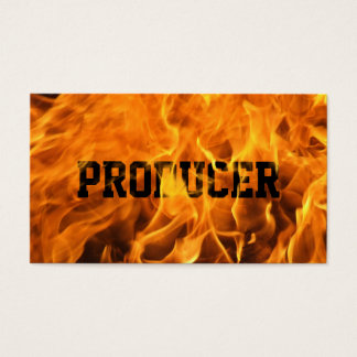 Cool Burning Fire Producer Business Card