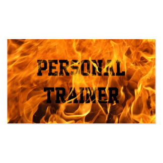 Cool Burning Fire Trainer Business Card
