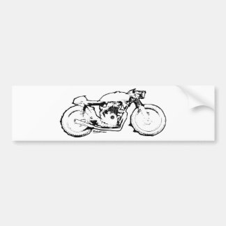 Cool Cafe Racer Motorcycle Drawing Bumper Sticker