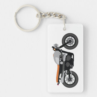 Cool Cafe Racer / Tracker Motorcycle Vintage bike Key Ring