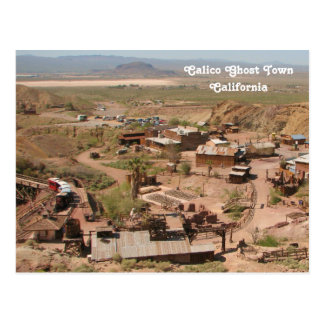 Cool Calico Ghost Town Postcard! Postcard