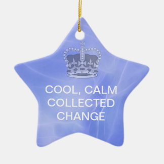 Cool Calm Collected Change Christmas Ornament