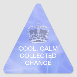 Cool Calm Collected Change Triangle Sticker