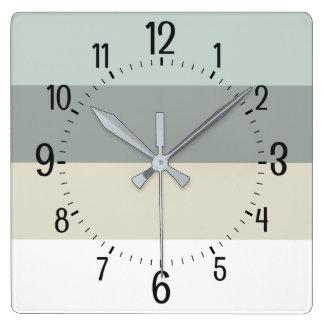 Cool Calming Minimalist Stripes Pattern Square Wall Clock