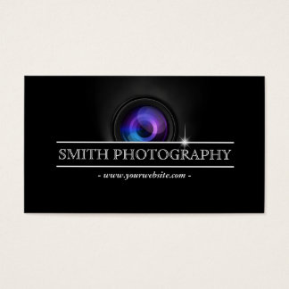 Cool Camera Lens Photography Business Card