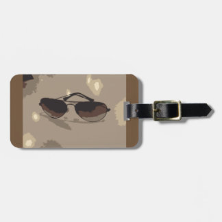 Cool Camo Sunglasses Graphic Luggage Tag