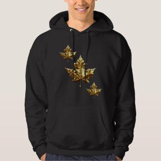 Cool Canada Hoodie Gold Maple Leaf Hoodie