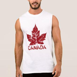 Cool Canada Muscle Shirt Retro Maple Leaf Souvenir