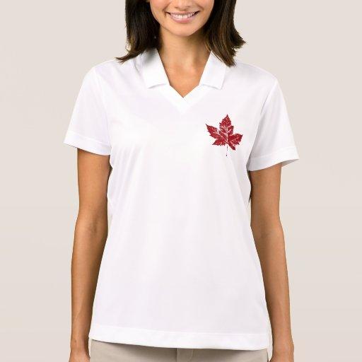 Cool Canada Polo Shirt Retro Canada Souvenir Shirt Polo T-shirt